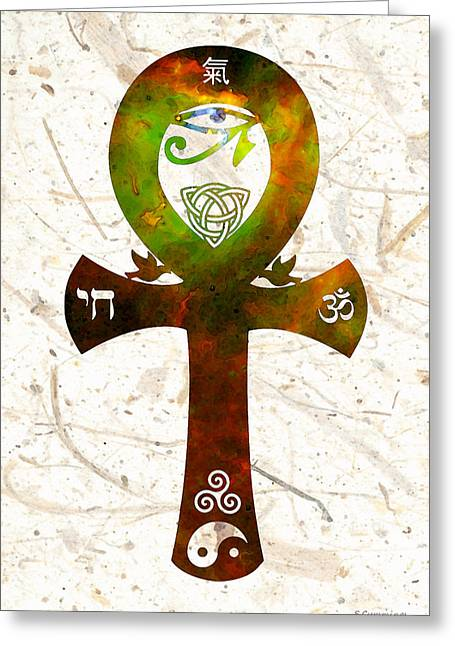 For Sale Greeting Cards - Unity 11 - Spiritual Artwork Greeting Card by Sharon Cummings