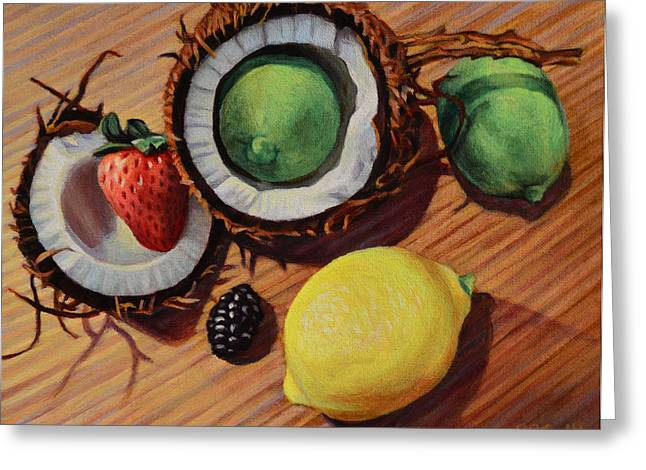 Tangy Paintings Greeting Cards - Unity Greeting Card by Kenneth Cobb