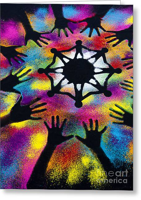Multicultural Greeting Cards - Unity Greeting Card by Tim Gainey
