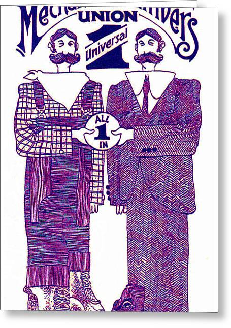 Tweed Suit Greeting Cards - Univeral One Greeting Card by Dale Michels