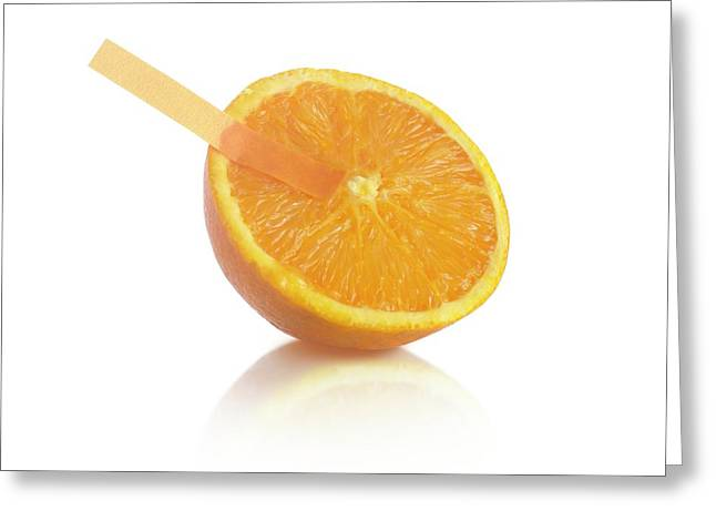 Universal Indicator Test On An Orange Greeting Card by Science Photo Library