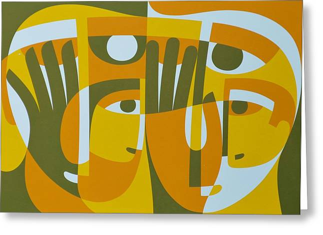 Light Within Greeting Cards - Universal Light Within 2, 1989 Acrylic On Board Greeting Card by Ron Waddams