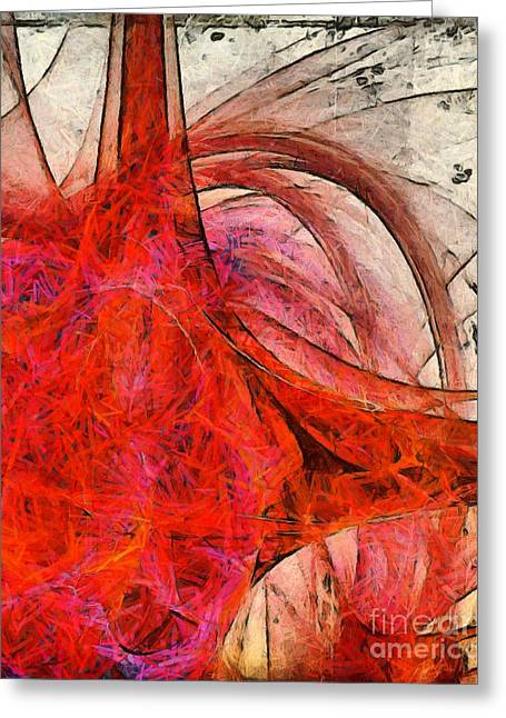 Truth Greeting Cards - Universal Truth Abstract Greeting Card by Edward Fielding