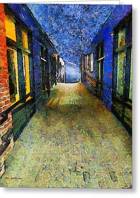 Star Greeting Cards - Universe Alley Greeting Card by RC DeWinter