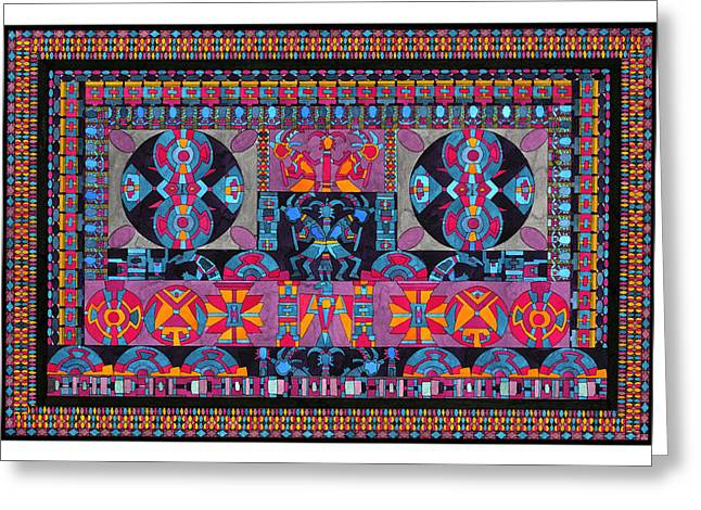 Americans Tapestries - Textiles Greeting Cards - Universe In Dance Greeting Card by Lawrence Chvotzkin