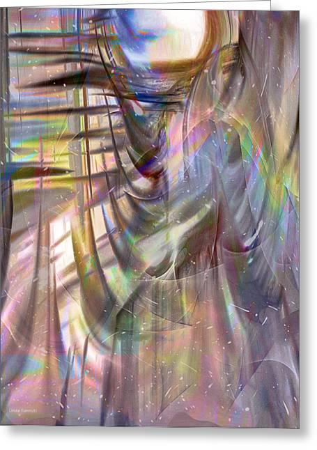 Universe Digital Art Greeting Cards - Universe Spirit Greeting Card by Linda Sannuti