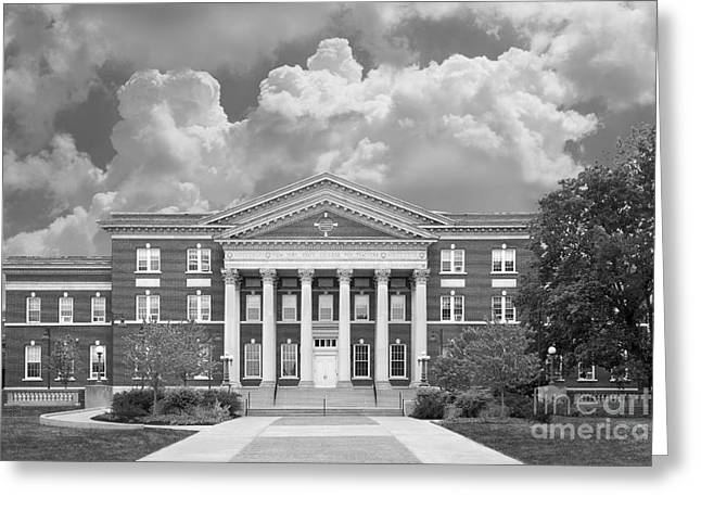 Occasion Greeting Cards - University at Albany Draper Hall Greeting Card by University Icons
