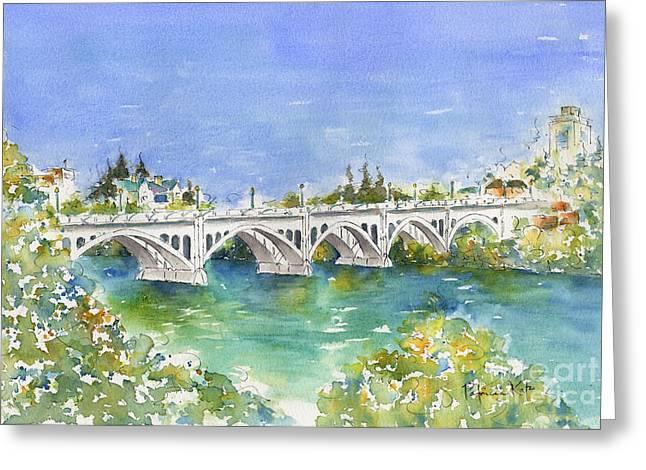 Sienna Greeting Cards - University Bridge Greeting Card by Pat Katz