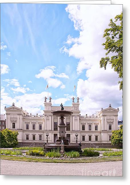 Lund Greeting Cards - university building in Lund Greeting Card by Antony McAulay