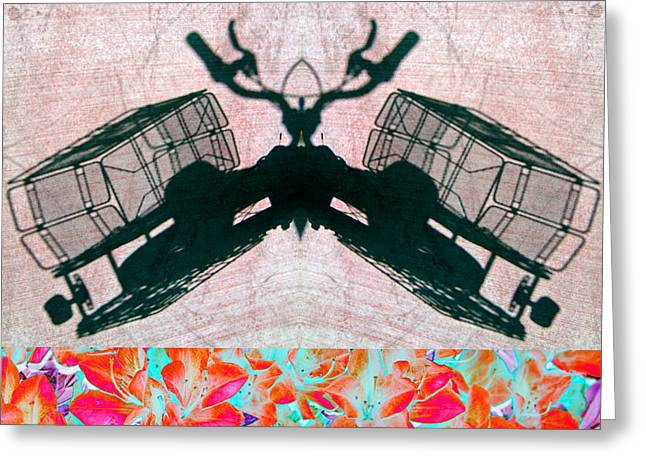 Double Bicycle Greeting Cards - University Drone 2013 Greeting Card by James Warren