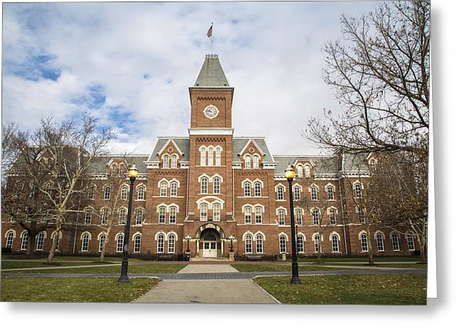 Ohio State University Greeting Cards - University Hall Ohio State University  Greeting Card by John McGraw