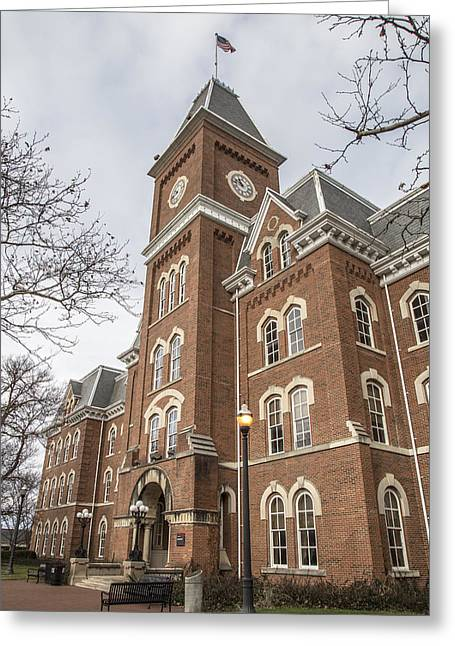 The Ohio State University Greeting Cards - University Hall OSU from Side Color  Greeting Card by John McGraw