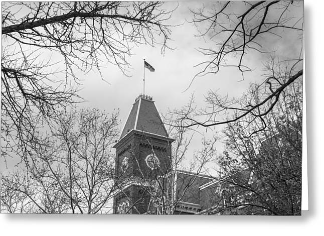 The Ohio State University Greeting Cards - University Hall Tower OSU Greeting Card by John McGraw