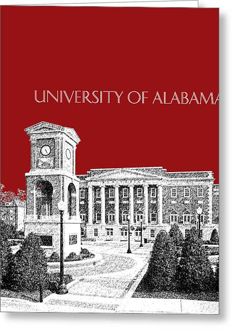 Alabama Crimson Tide Greeting Cards - University of Alabama #2 - Dark Red Greeting Card by DB Artist