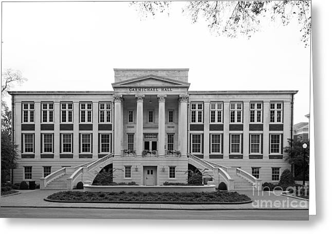 Crimson Tide Photographs Greeting Cards - University of Alabama Carmichael Hall Greeting Card by University Icons
