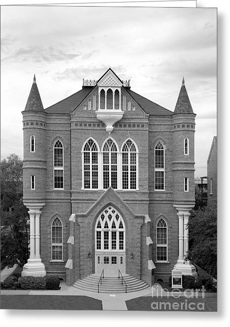 University Of Alabama Greeting Cards - University of Alabama Clark Hall Greeting Card by University Icons