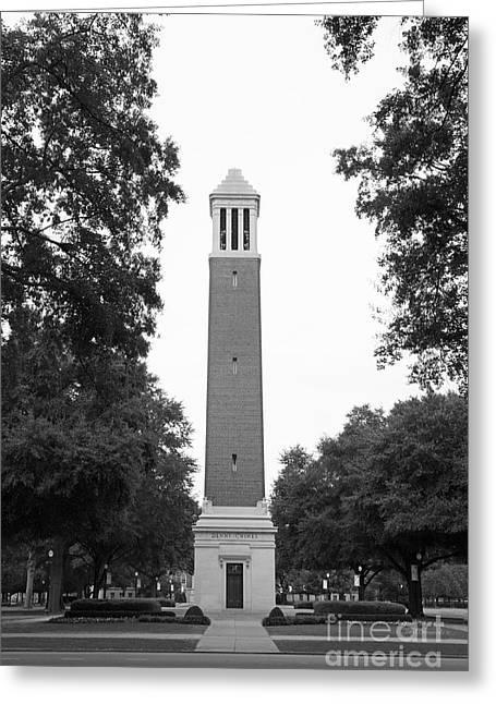 Denny Chimes Greeting Cards - University of Alabama Denny Chimes Greeting Card by University Icons