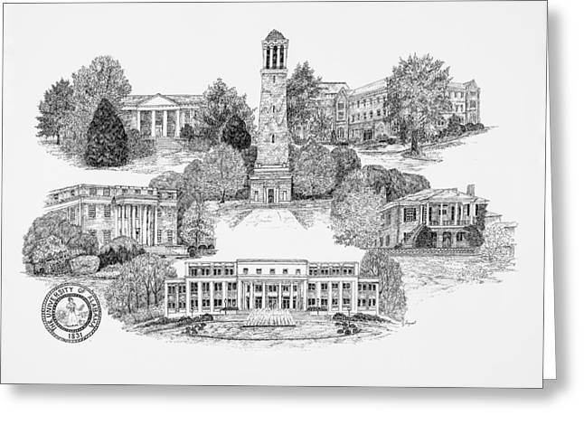 University Of Alabama Digital Greeting Cards - University of Alabama Greeting Card by Jessica  Bryant