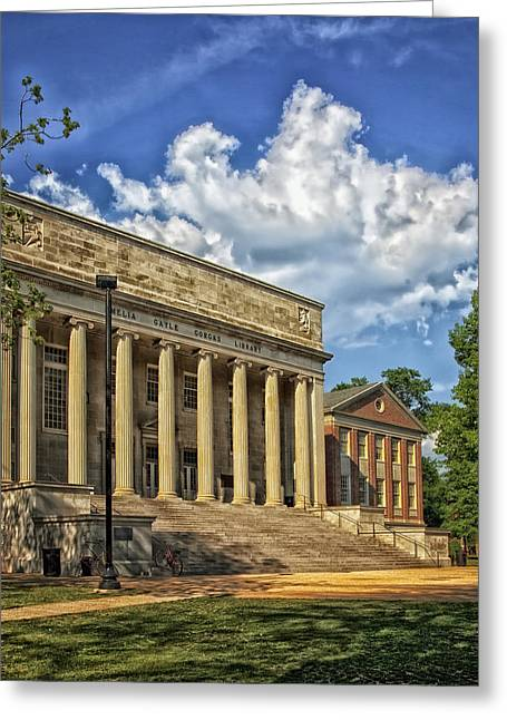 University School Greeting Cards - University of Alabama Library Greeting Card by Mountain Dreams