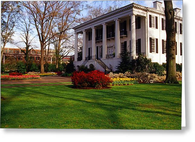 University Of Alabama Greeting Cards - University of Alabama Presidents Mansion Greeting Card by Joseph Schofield