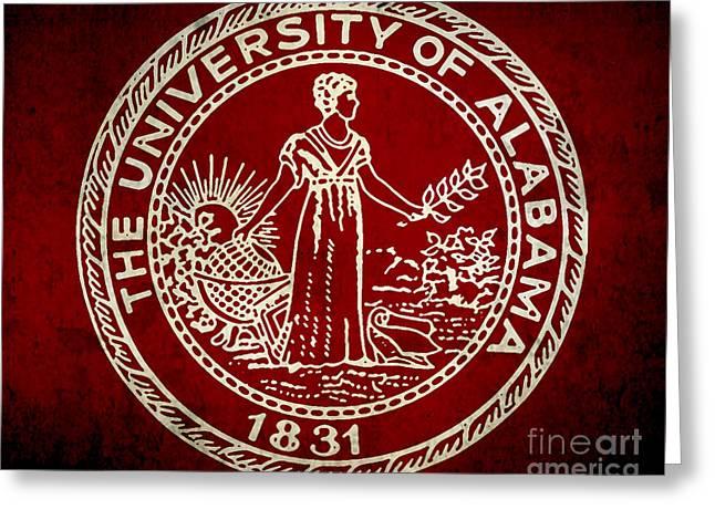 University Of Alabama Digital Greeting Cards - University of Alabama Greeting Card by Scott Karan
