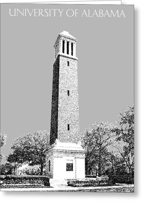 University Of Alabama Greeting Cards - University of Alabama - Silver Greeting Card by DB Artist