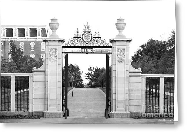 University Of Arkansas Greeting Cards - University of Arkansas Centennial Gate Greeting Card by University Icons