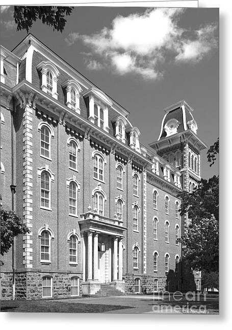 University Of Arkansas Greeting Cards - University of Arkansas Old Main  Greeting Card by University Icons