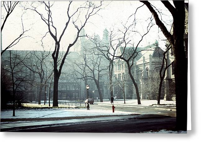 Pritzker School Of Medicine Greeting Cards - University of Chicago 1976 Greeting Card by Joseph Duba