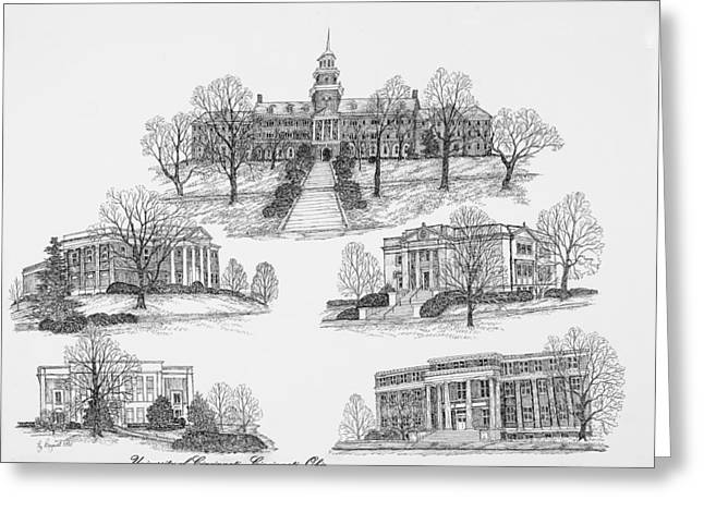 University Of Cincinnati Greeting Cards - University of Cincinnati Greeting Card by Jessica  Bryant