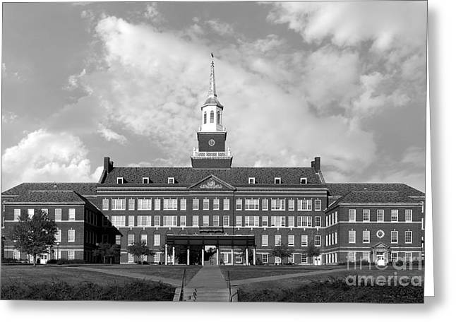 Hall Greeting Cards - University of Cincinnati Mc Micken Hall Greeting Card by University Icons
