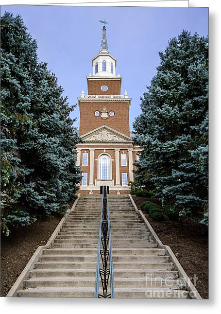 Mcmicken Hall Greeting Cards - University of Cincinnati McMicken Hall Greeting Card by Paul Velgos