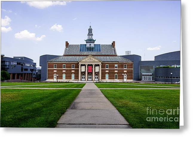 University Of Cincinnati Greeting Cards - University of Cincinnati Tangeman University Center  Greeting Card by Paul Velgos