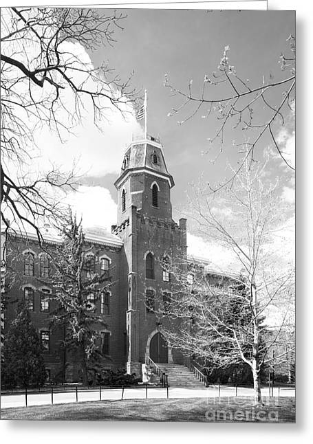University Of Boulder Colorado Greeting Cards - University of Colorado Old Main Greeting Card by University Icons