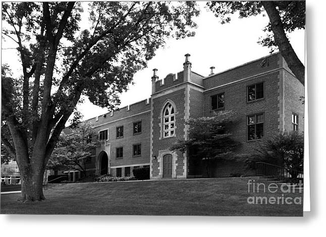 Small Towns Greeting Cards - University of Dubuque Van Vliet Hall Greeting Card by University Icons