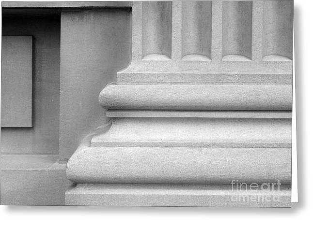Association Of American Universities Greeting Cards - University of Iowa Column Base Greeting Card by University Icons