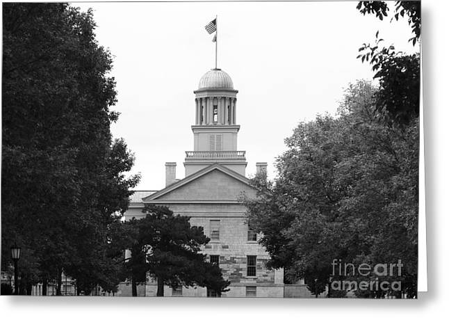 Association Of American Universities Greeting Cards - University of Iowa Old Capital Greeting Card by University Icons