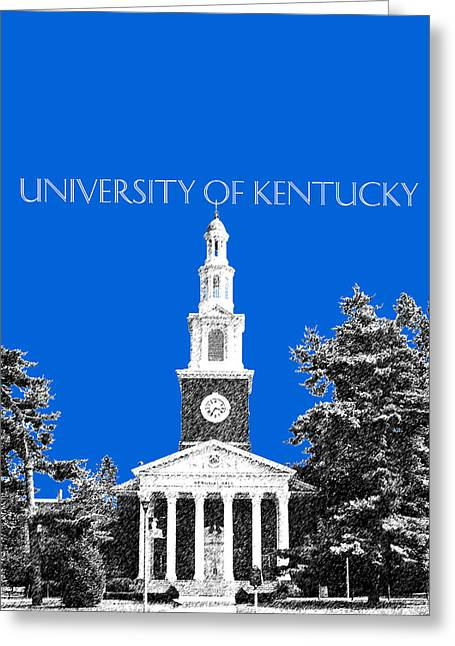 Pen Greeting Cards - University of Kentucky - Blue Greeting Card by DB Artist
