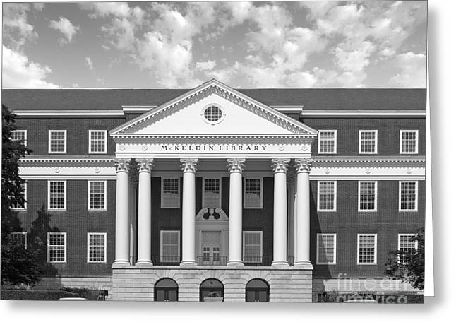 Association Of American Universities Greeting Cards - University of Maryland Mc Keldin Library Greeting Card by University Icons