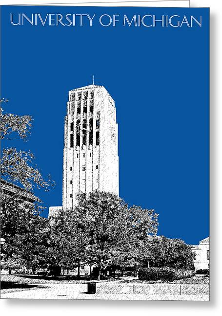 University Of Michigan - Royal Blue Greeting Card by DB Artist