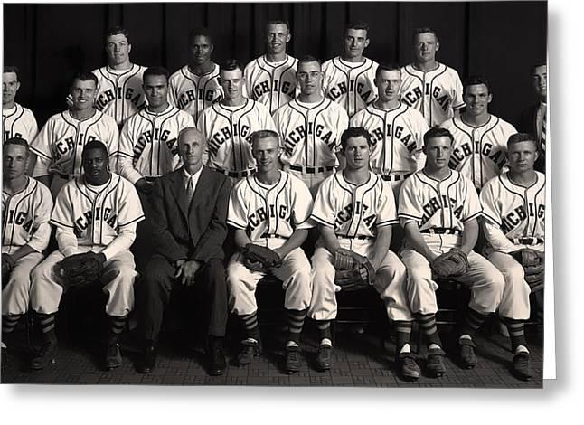University Of Michigan Greeting Cards - University of Michigan - 1953 College Baseball National Champion Greeting Card by Mountain Dreams