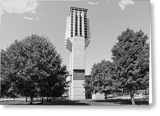 Small Towns Greeting Cards - University of Michigan Lurie Bell Tower Greeting Card by University Icons