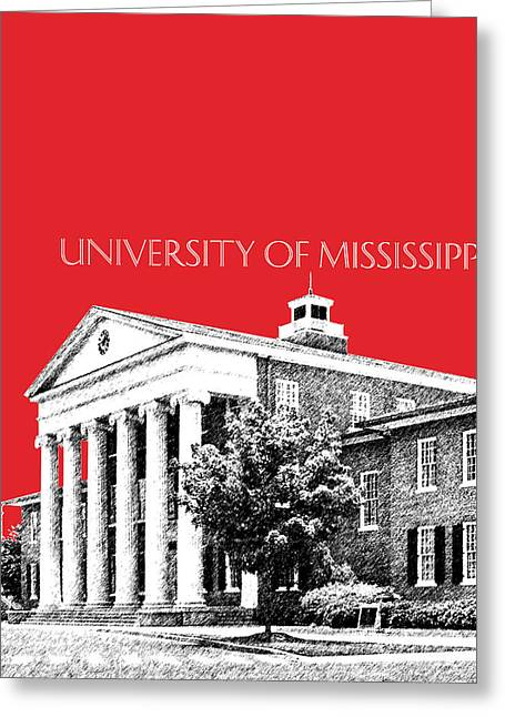 Duke Greeting Cards - University of Mississippi - Red Greeting Card by DB Artist