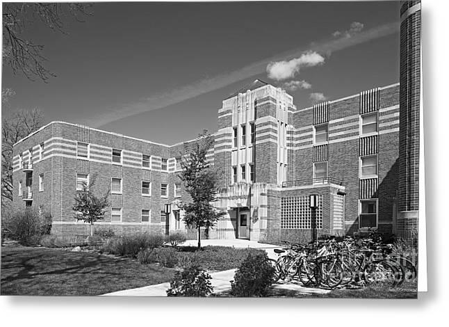 Occasion Greeting Cards - University of Nebraska Kearney Mens Hall Greeting Card by University Icons