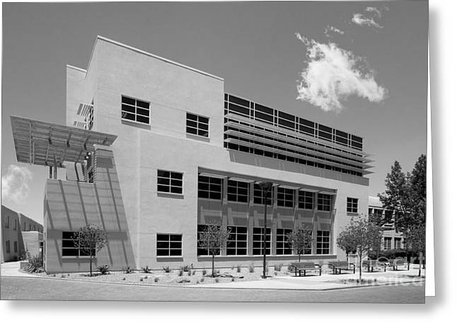 Albuquerque New Mexico Greeting Cards - University of New Mexico Castetter Hall Greeting Card by University Icons