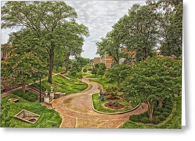 University Of North Alabama Campus Greeting Card by Mountain Dreams