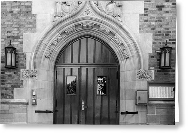 University of Notre Dame Dillon Hall Greeting Card by University Icons