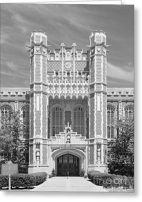 Oklahoma University Greeting Cards - University of Oklahoma Bizzell Memorial Library  Greeting Card by University Icons