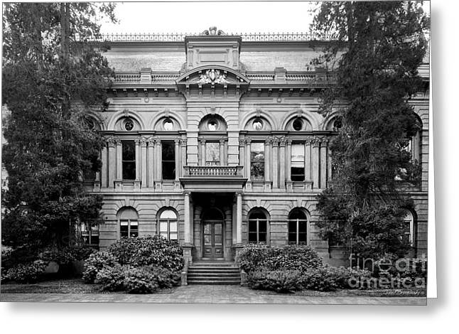 Occasion Greeting Cards - University of Oregon Villard Hall Greeting Card by University Icons