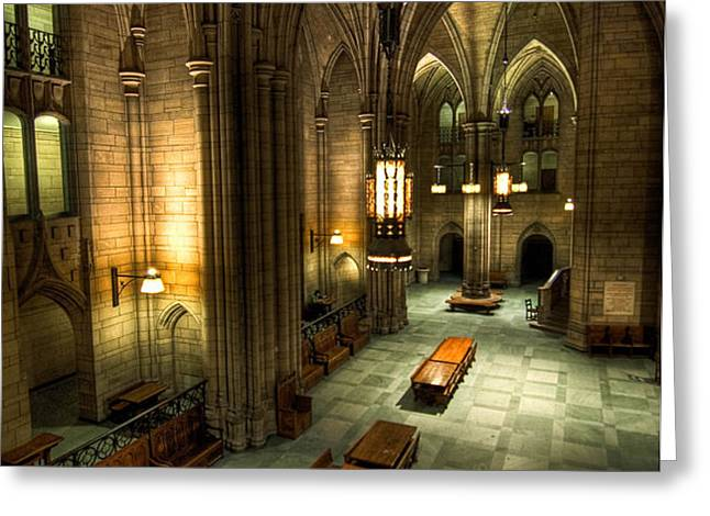 University of Pittsburgh Cathedral of Learning Greeting Card by Amy Cicconi